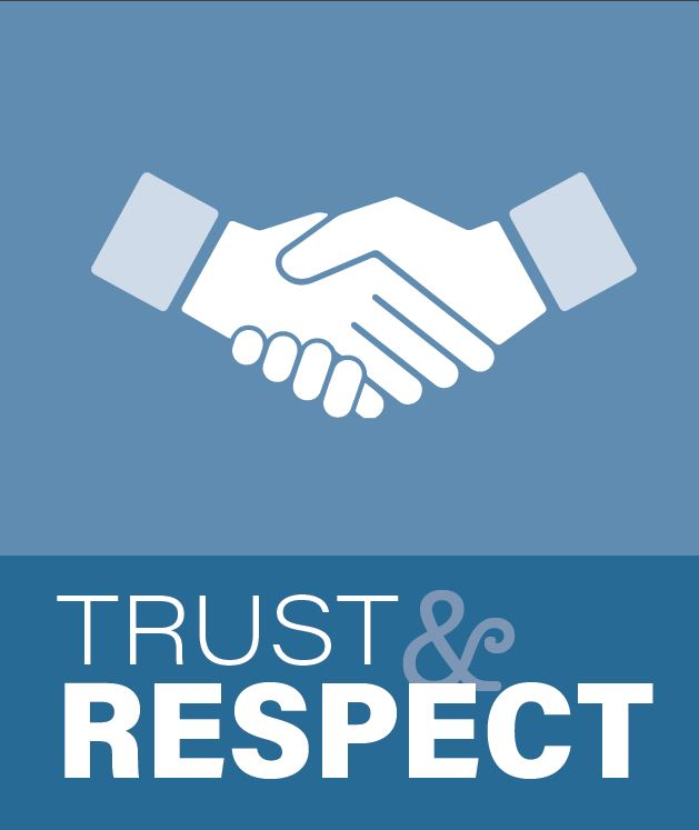 Trust and Respect image of a handshake